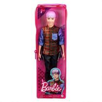 Boneco Ken Fashionistas 154 Cabelo Roxo Xadrez GYB05 Mattel -