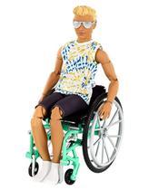 Boneco Ken  Fashionistas   Cadeirante 167 Loiro Articulado - To Move - Mattel