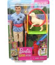 Boneco Ken I Can Be Playset Treinador De Cachorros Mattel -