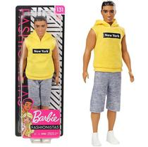 Boneco Ken Moreno Blusa New York 131 - Barbie Fashionistas  - Mattel -