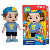 Boneco Luccas Neto Infantil Criança Articulado Fala 14 Frases 27cm - Brinquedos Baby Brink -