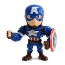 """Boneco Metals Figure 4"""" Marvel Guerra Civil - Capitão América - DTC -"""