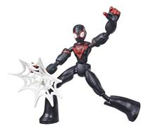 Boneco Miles Morales Marvel Spider Man Bend And Flex E7335 - Hasbro