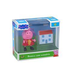 Boneco Miniatura com Acessório Peppa Pig  - DTC -
