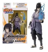 Boneco Naruto Shippuden Anime Heroes - Uchiha Sasuke - Fun