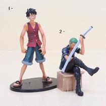 Boneco One Piece Styling Law Luffy Zoro Mihawk Figure Bandai -