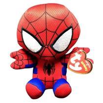 Boneco Pelúcia Pequeno Ty Beanie Babies Personagem Herói Spider Man Homem Aranha Marvel 16 cm - Dtc - Dtc Brinquedos