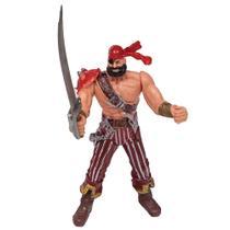 Boneco Piratas dos Sete Mares - Vermelho - Buba -
