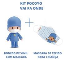 Boneco pocoyo com máscara para criança - vai pa onde edição limitada - cardoso toys 3047 -
