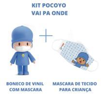 Boneco pocoyo com máscara para criança - vai pa onde - edição limitada - cardoso toys 3047 -