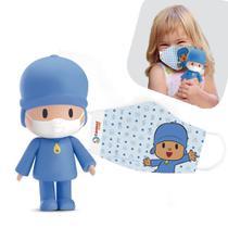 Boneco POCOYO VAI PA ONDE Edição Limitada + Máscara Infantil - Cardoso Toys