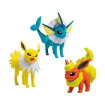 """Boneco Pokémon Action Figure 2"""" - Jolteon, Vaporeon e Flareon  TOMY/Sunny - Tomy Toys"""