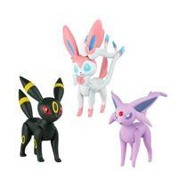 """Boneco Pokémon Action Figure 2"""" - Umbreon, Sylveon e Espeon  TOMY/Sunny - Tomy Toys"""