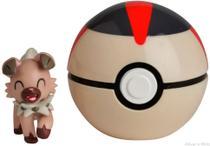 Boneco Pokémon Clip N Go Rockruff + Bola Tempo 4852C - Dtc -