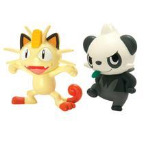 Boneco pokemon meowth vs pancham unica - Tomy