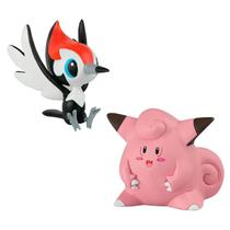 Boneco Pokemon - Pikipek vs Clefairy - Tomy -