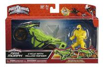Boneco Power Rangers Yellow Amarelo Ninja Steel + Moto - Bandai