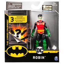 Boneco Robin c/ 3 Acessórios Misteriosos - 10cm - DC Batman - Spin Master - Sunny -