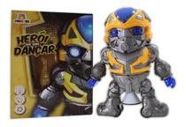 Boneco Robô Dança Musical Gira 360 Brinquedo Transformers - Dm Toys