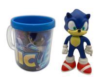 Boneco Sonic Azul Clássico Figure + Caneca Personalizada - Figure Collection