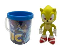 Boneco Super Sonic  Clássico Figure + Caneca Personalizada - Figure Collection
