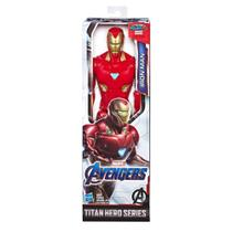 Boneco titan hero 2.0 homem de ferro, avengers, vermelho/amarelo - Hasbro -