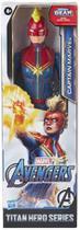 Boneco titan hero marvel capita marvel hasbro - e7875 -