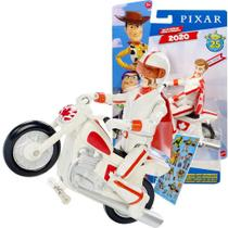 Boneco Toy Story Disney Duke Caboom Articulado + Moto + Capacete + Adesivo - Mattel