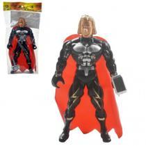 Boneco Vingadores - Thor - Com Capa e Martelo - - Ark brasil