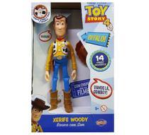 Boneco Woody Toy Story 4 de Plastico Com 14 Frases - Toyng -