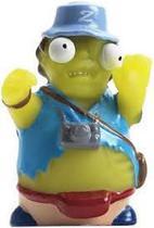 Boneco Zombiezz Dtc Turista Chuck Brainguzzler Salta Olhos -