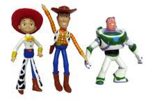 Bonecos De Vinil Toy Story- Woody, Buzz e Jessi - Lider