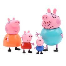 Bonecos Família da  Peppa - Kit com 4 Figuras - Sunny 2301 -