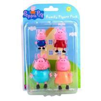 Bonecos Família Peppa Pig com 4 figuras 2301 Sunny -