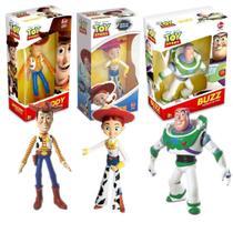 Bonecos Kit Com Toy Story Woody Buzz Jessie Lider -