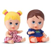 Bonecos little dolls gêmeos - divertoys -