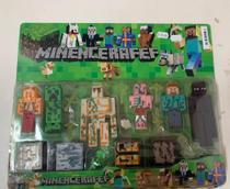Bonecos Minecraft com acessórios - TEMA