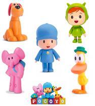 Bonecos Pocoyo - Kit com 5 Figuras - Elly Nina Loula Pato - Zinkia