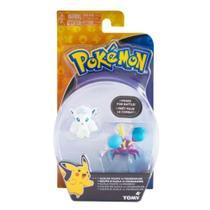 Bonecos Pokémon Crabrawler Vs Vulpix Alola -
