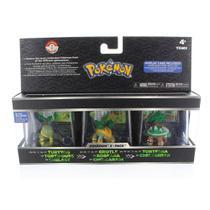 Bonecos Pokémon Iniciais Sinnoh: Turtwig, Grotle, Torterra - Tomy -