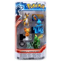 Bonecos Pokémon: Mega-Ampharos, Manaphy, Teddiursa, Scyther - Tomy -