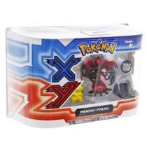 Bonecos Pokémon XY Pikachu  Yveltal - Tomy -