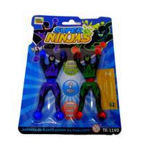 Bonecos Super Ninjas Cartela Gruda Na Parede Ou Vidro - SPMIX