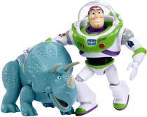 Bonecos Toy Story Buzz Lightyear e Dinossauro Trixie Articulado - Mattel -