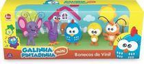 Bonecos vinil galinha pintadinha mini familia - Lider brinquedos