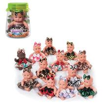 Bonequinha Baby Sentada Infantil Mini Boneca no Pote REF: 974 - Anjo Brinquedos