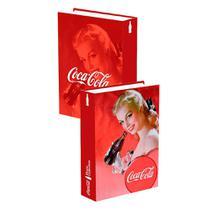Book Box Porta Trecos Coca Cola Retrô - Versare Anos Dourados