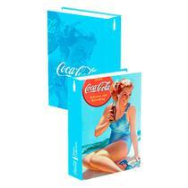 Book Box Porta Trecos Coca Cola Vintage - Versare Anos Dourados