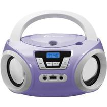 Boombox Bd-121bl Com Usb Rádio Fm Mp3 Cd Player e Entrada Auxiliar - Lenoxx