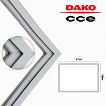 Borracha Gaxeta Freezer CCE Dako 410 430 450L 67x122 - Mabe